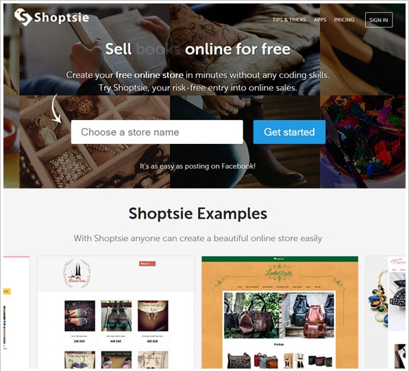 Shoptsie – super easy way to sell stuff in your own online store