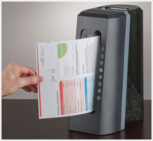 Vertical Paper Shredder – save precious desktop space and keep your data safe too