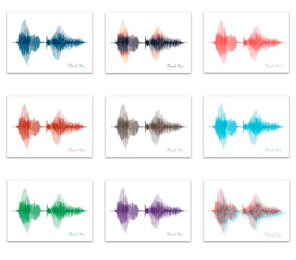 Voice Art/Sound Wave Greeting Cards – send your voice with every card