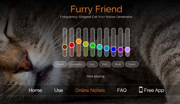 Furry Friend – the site that turns your computer into a kitty