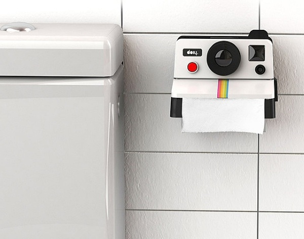 Polaroll Toilet Paper Roll Holder – get that 80s feel in your bathroom
