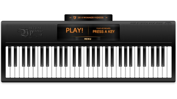 Virtual Piano – the website that lets you become a musician by typing