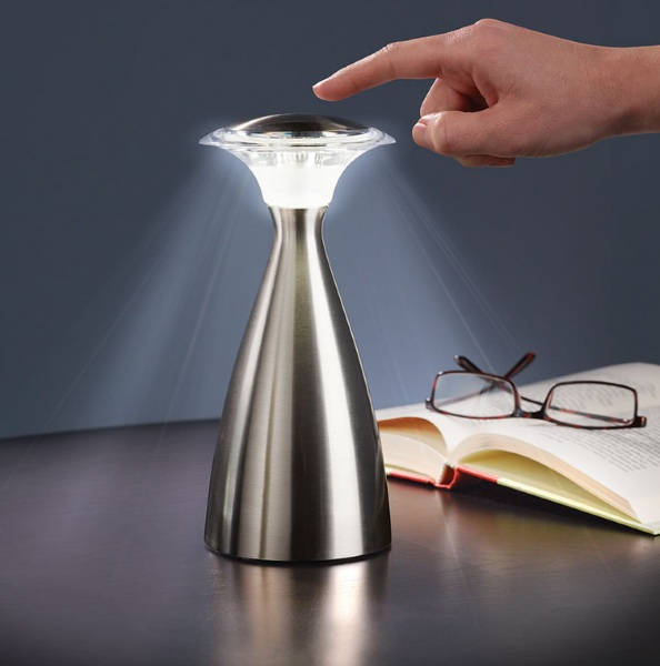 Touch Activated Cordless Lamp – bright light without the tyranny of outlets