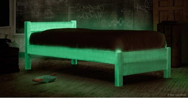 Glow in the Dark bed nighttime