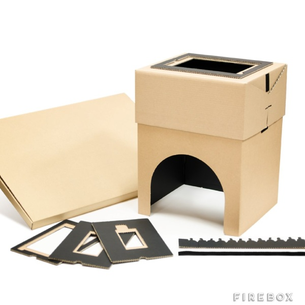 Cardboard Home Cinema parts