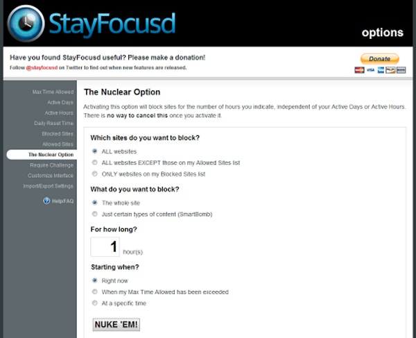 StayFocusd – give yourself some free time but not too much
