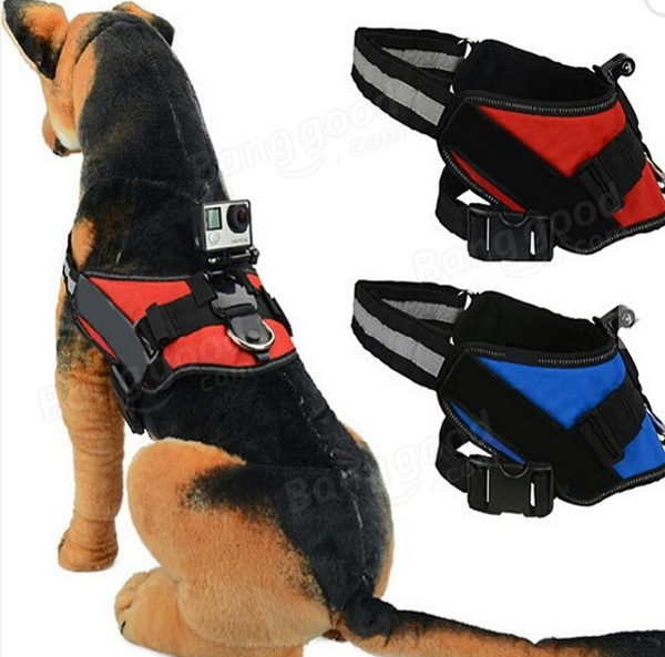 Adjustable Dog Fetch Harness Mount for GoPro – see the world from your dog's point of view