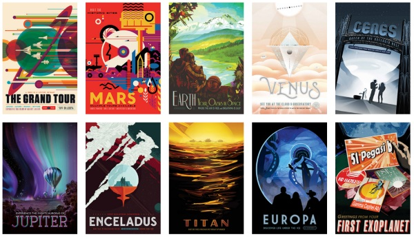 Free Retro Space Posters – a late Valentine's from NASA
