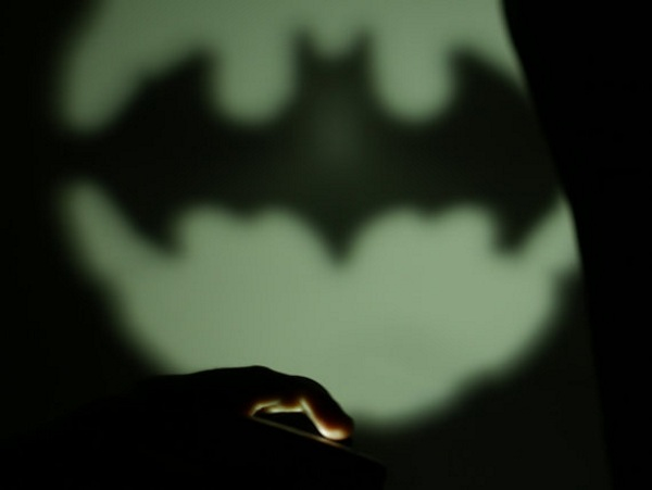 "Mini Batsignal – use your phone to ""call"" for help"