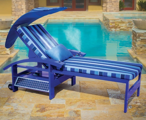 Solar Powered Entertainment Lounger alone