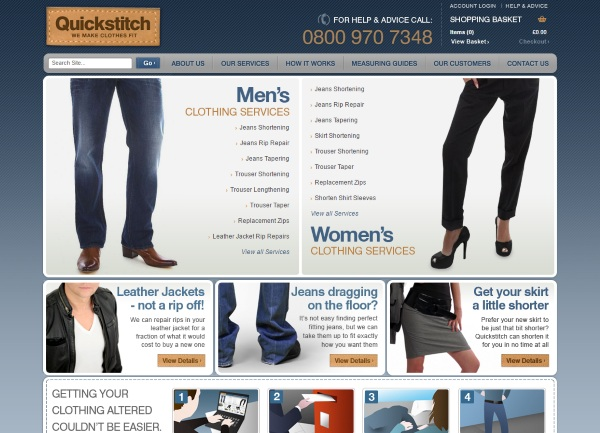 Quickstitch – online tailoring services, clothing repair without the trip to the seamstress