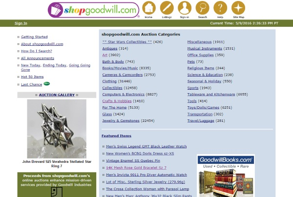Shop Goodwill – thrift store shopping from your desk