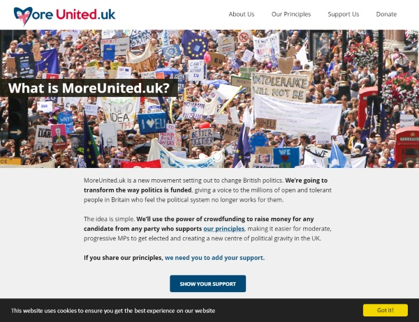 More United – crowdfund your next political pick
