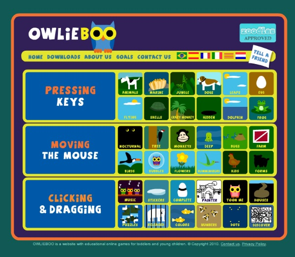 OWLIE BOO games