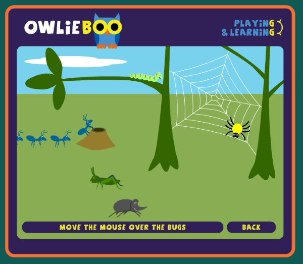 Owlie Boo – free computer games for little fingers