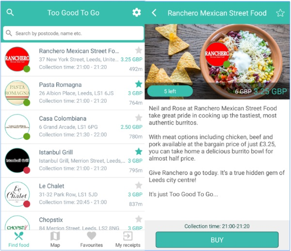 Too Good To Go – get some delish food on the cheap with this app