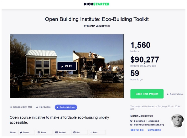 Open Source Toolkit – awesome low cost home building eco project deserves our support
