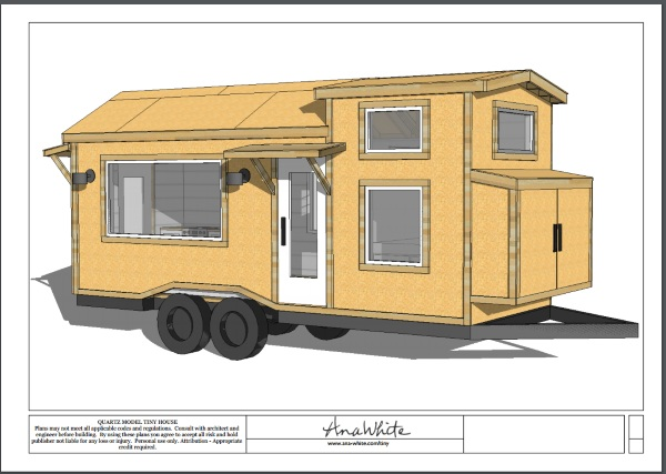 Quartz Model Tiny House – download these free plans for your own tiny home