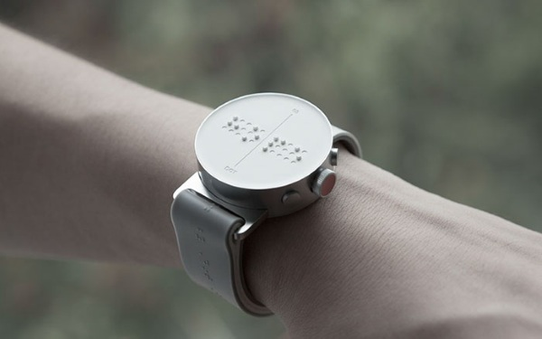 Dot Watch  read the time with this braille clock face - Gadget Lovers