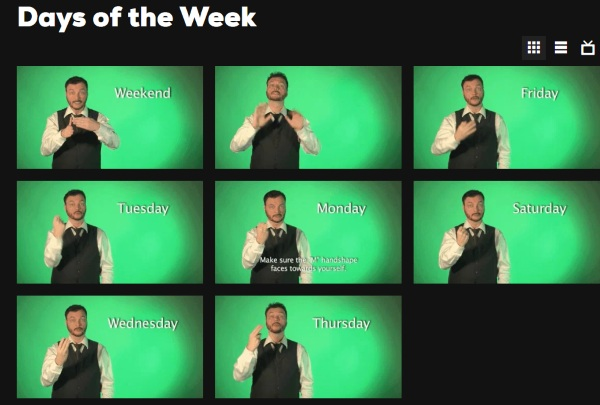 Sign With Robert – learn some sign language with these gifs