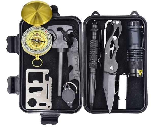 10-in-1 Survival Gear Kit – this tiny pack can be a huge help in an emergency