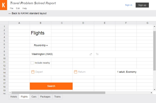 KAYAK At Work – this spreadsheet keeps your vacation plans hidden