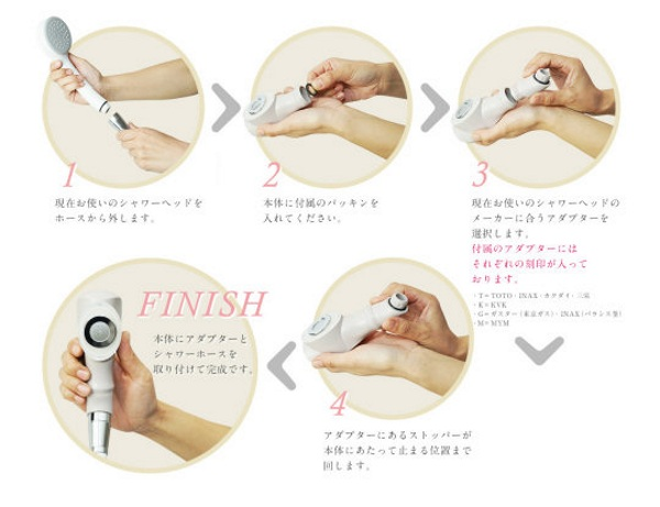 Phototherapy Shower Head – get clean and wrinkle free at the same time