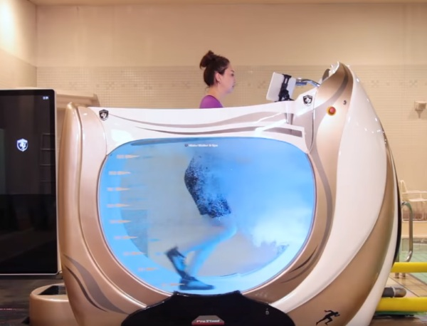 Water Walker and Spa – check out this futuristic exercise tub