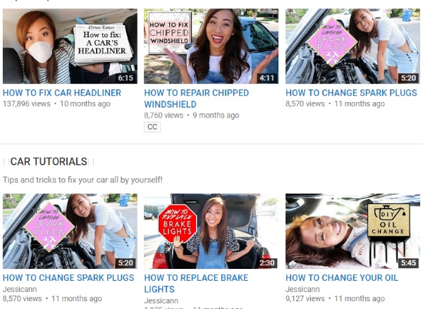 JESSICANN – this YouTube channel wants to teach girls to fix cars