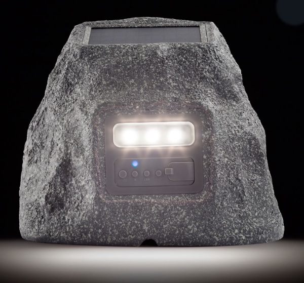 Solar Powered Landscape Speaker – this rock really rocks!