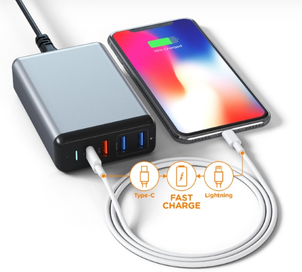 Satachi Type-C 75W Travel Charger – one charger for all your devices
