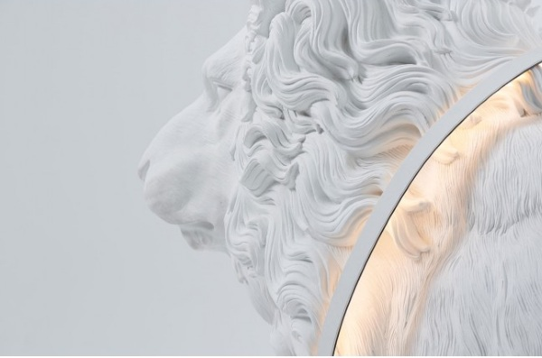 Lion X Life Size Floor Light – yup, that's totally a lion