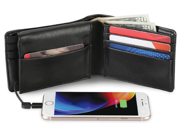 Phone Charging Wallet – always have a battery on you