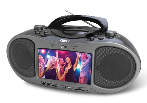 Bluetooth/DVD Boombox – music and movies, all in one