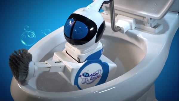 Giddel – the tiny toilet cleaning robot