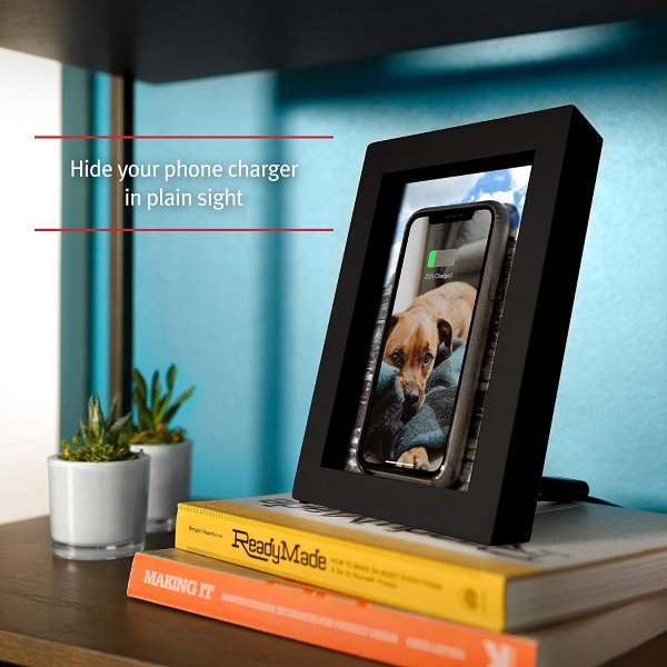 Picture Frame Qi Charger – display photos, charge your phone