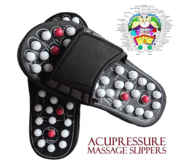 Acupressure Massage Slippers – stress relief on the move