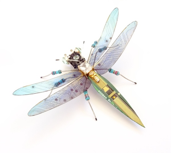 Julia Alice Chappell – whimsical sculptures made from tech waste
