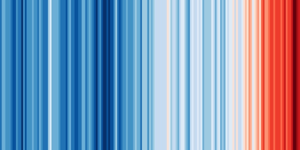 Warning Stripes Visualization – how does climate change look in your area?