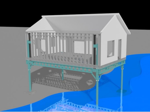 Kradle – lift your home above flood waters