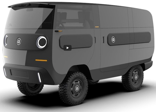 eBussy – EV van car camper concept looks neat but implausible