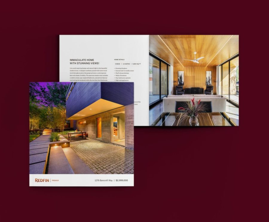 Redfin luxury real estate brochure