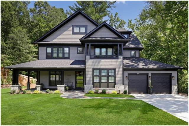 what is earnest money for this two story grey home