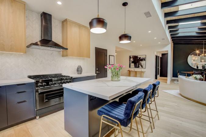 kitchen blue cabinetry design trend