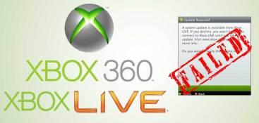 XBox 360 Aggiornamento fallito