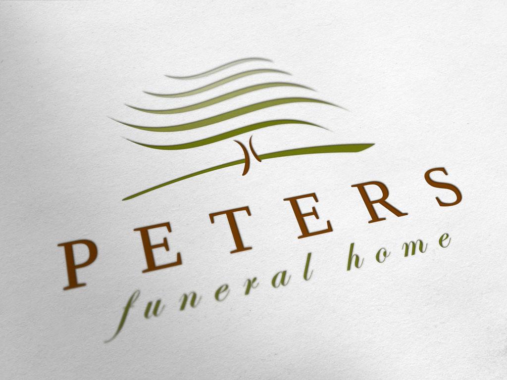 Peters Funeral Home Logo Design RedGizmo Digital Marketing
