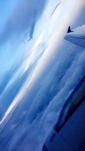 sky picture taken from airplane window