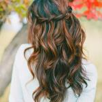 Brown red ombre hairstyle
