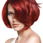 Multi toned red hair colors in bob hair cut