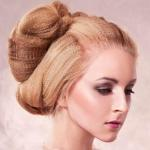Strawberry blond updo